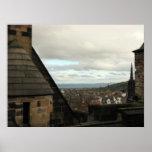 Visión desde el castillo de Edimburgo Poster
