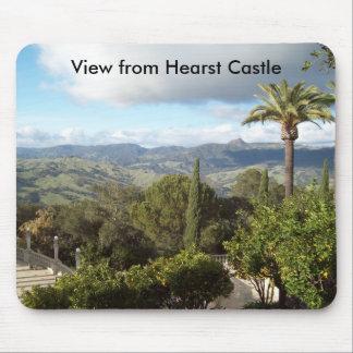 Visión desde el castillo de Hearst Alfombrillas De Ratón
