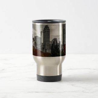 Visión desde el Central Park en New York City Tazas De Café