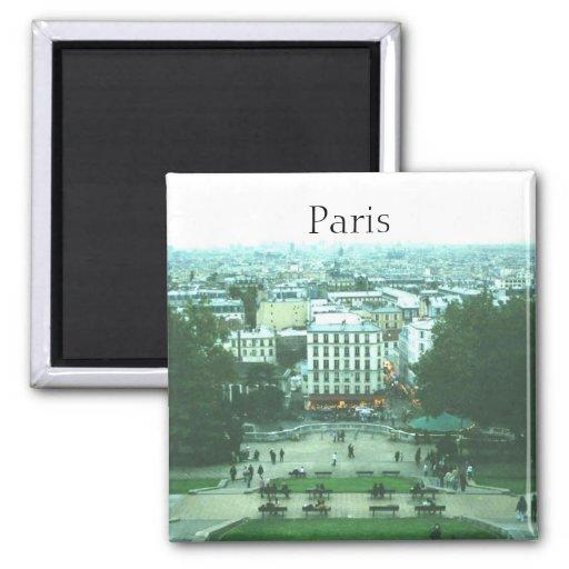 Visión desde el imán de Sacre Coeur París