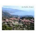 Visión desde el La Turbie, Francia Tarjetas Postales