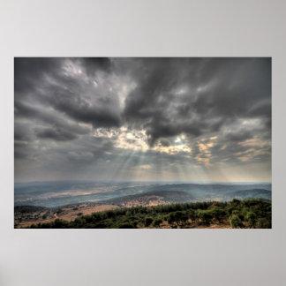 Visión desde el monte Carmelo, poster de la foto d
