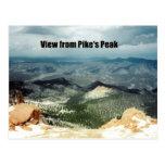 Visión desde el pico de Pike Tarjeta Postal