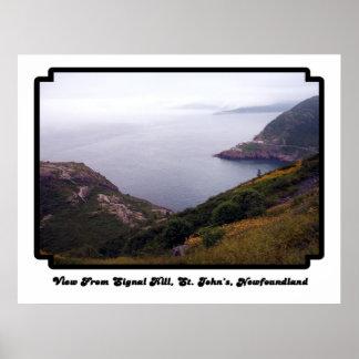 Visión desde el poster de la colina 1 de la señal