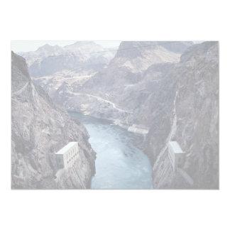 """Visión desde el Preso Hoover, Nevada/Arizona, los Invitación 5"""" X 7"""""""