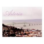 visión desde el puente de Astoria-Megler de la col