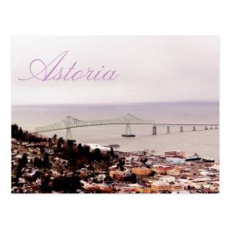 visión desde el puente de Astoria-Megler de la Postal