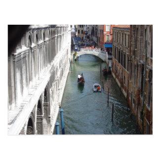 Visión desde el puente de suspiros, Venecia Tarjeta Postal