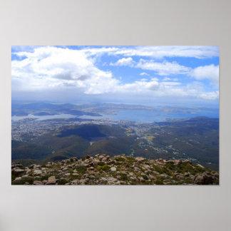 Visión desde el soporte Wellington, Tasmania, impr Póster