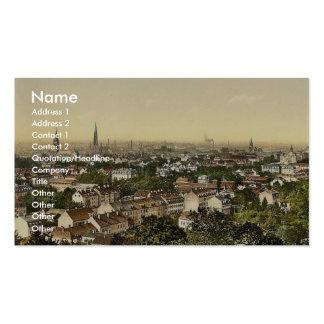 Visión desde el sur, Mulhausen, la Alsacia-Lorena, Plantilla De Tarjeta De Negocio