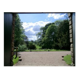 Visión desde Erddig Pasillo cerca de Wrexham Postales