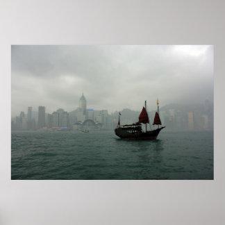 Visión desde Kowloon hacia Chai pálido, Hong Kong Posters