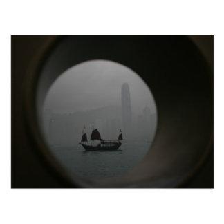 Visión desde Kowloon hacia Chai pálido, Hong Kong Tarjetas Postales