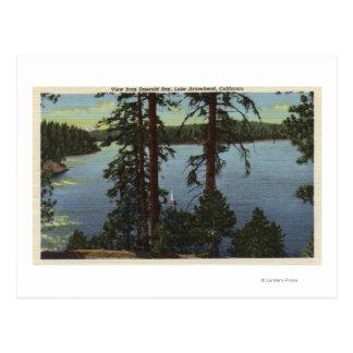 Visión desde la bahía esmeralda tarjeta postal