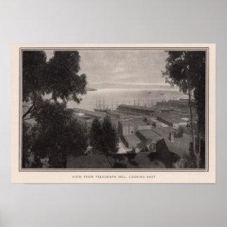 Visión desde la colina del telégrafo que parece de impresiones