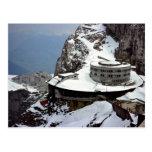 Visión desde la cumbre, Mt. Pilatus, Suiza Europa Tarjeta Postal
