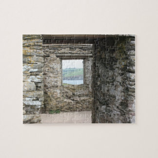 Visión desde la isla del municipio escocés hacia l puzzle con fotos