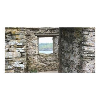 Visión desde la isla del municipio escocés hacia l tarjetas fotograficas