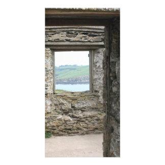 Visión desde la isla del municipio escocés hacia l tarjetas personales con fotos