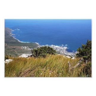 Visión desde la montaña de la tabla en Cape Town Cojinete