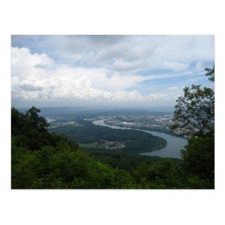 Visión desde la montaña del puesto de observación tarjeta postal