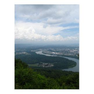 Visión desde la montaña del puesto de observación tarjetas postales