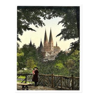 Visión desde la pared hacia la iglesia de Maria, L Tarjetas Postales