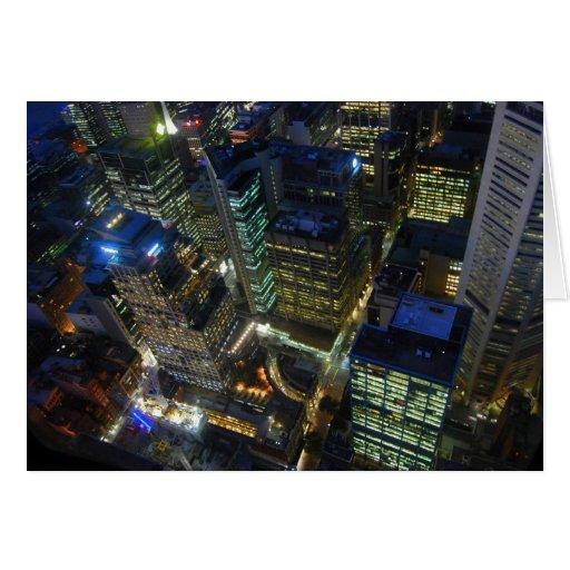 Visión desde la tarjeta de la torre de Sydney