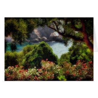Visión desde la terraza - tarjeta de felicitación
