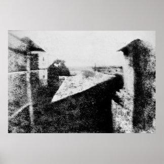 Visión desde la ventana en Le Gras 1826 Posters