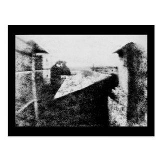 Visión desde la ventana en Le Gras, primera fotogr Tarjeta Postal