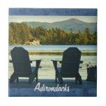 Visión desde las sillas en el Adirondacks, NY de A Azulejos Cerámicos