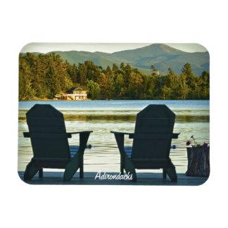 Visión desde las sillas en el Adirondacks, NY de A Imanes De Vinilo