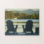 Visión desde las sillas en el Adirondacks, NY de A Puzzle Con Fotos