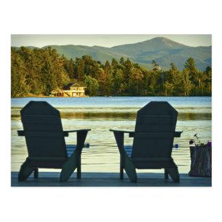 Visión desde las sillas en el Adirondacks, NY de Postal