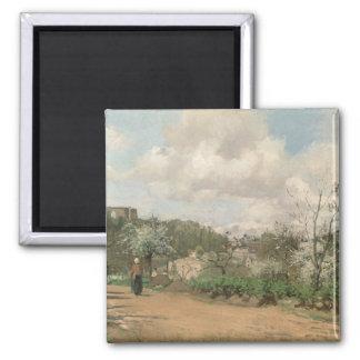 Visión desde Louveciennes, 1869-70 Imán Cuadrado