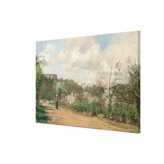 Visión desde Louveciennes, 1869-70 Impresion En Lona