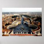 Visión desde marcas del St, Roma Poster
