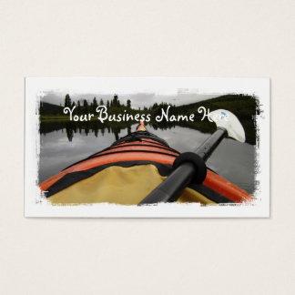 Visión desde mi kajak tarjetas de visita