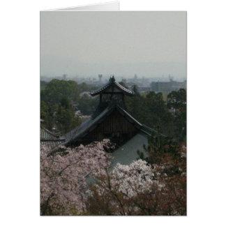 Visión desde Okochi-Sanso-Chalet-Kyoto-Keigo-NY Tarjeta Pequeña