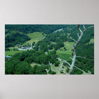 Visión desde rocas del Seneca, Virginia Occidental Posters