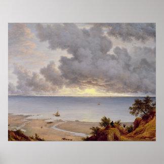 Visión desde Shanklin, isla del Wight, c.1827 (ace Póster