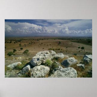 Visión desde Troy del paisaje circundante Póster