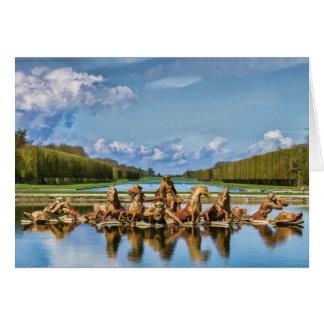 Visión desde Versalles, Francia, tarjeta de felici