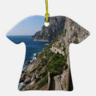Visión desde vía Krupp en la isla Capri Adornos De Navidad