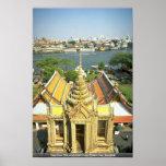 Visión desde Wat Arun sobre el río Chao Phraya, Ba Posters