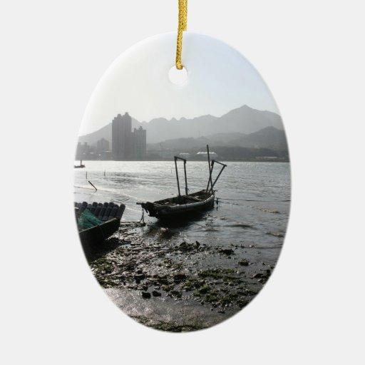 Visión desde Zhuwei hacia Luzhou, Taiwán Adornos De Navidad