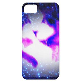 visión doble púrpura tóxica del gatito de los arty funda para iPhone SE/5/5s
