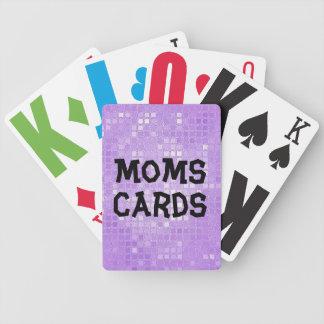 Vision empeoró a la mamá barajas de cartas
