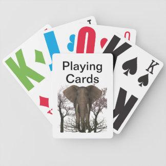 Vision empeoró el elefante baraja de cartas